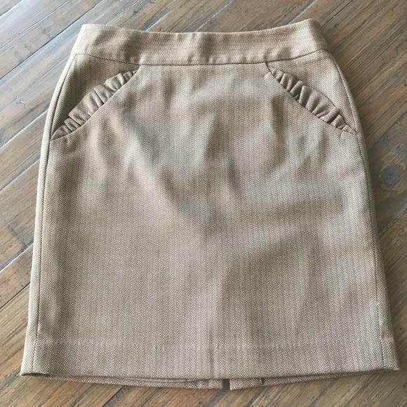 LOFT Dresses & Skirts - Ann Taylor Loft size 2 ruffle pocket skirt